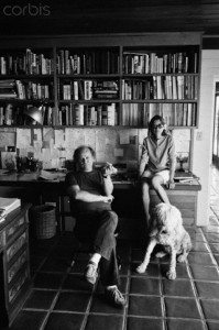 October 1981, California, USA --- American novelist, screenwriter, and literary critic John Gregory Dunne and his wife, writer Joan Didion at home. --- Image by © John Bryson/Sygma/Corbis