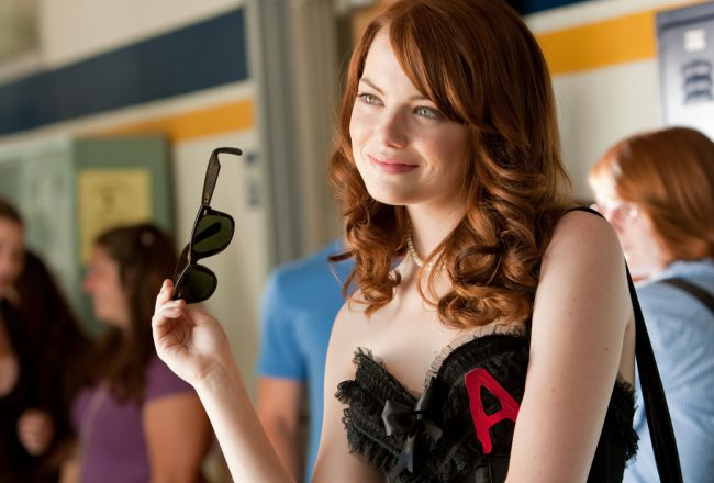 """Emma Stone as """"Olive Penderghast"""" in Screen Gems' EASY A."""