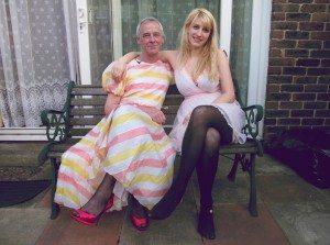 Me and sarah bench