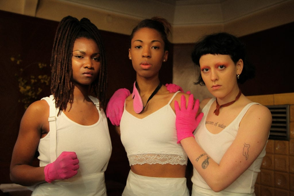 Victoire Laly, Kita Updike & Olivia Kundisch in The Misandrists.