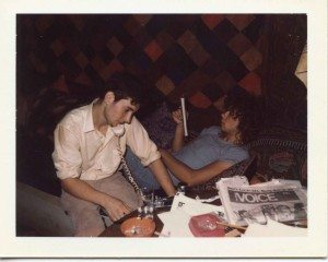 jonathan richman + Jerry Harrison on phone low res