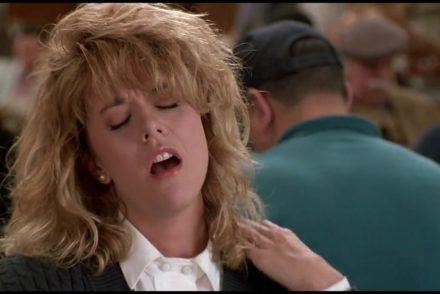 Meg Ryan fakes an orgasm in Katz deli