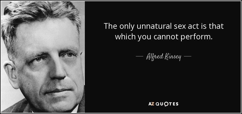 Alfred kinsey male oral sex orgasm