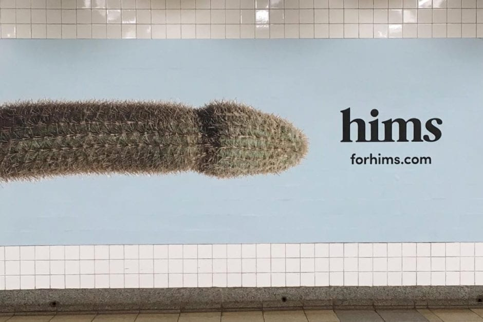 for hims subway ad